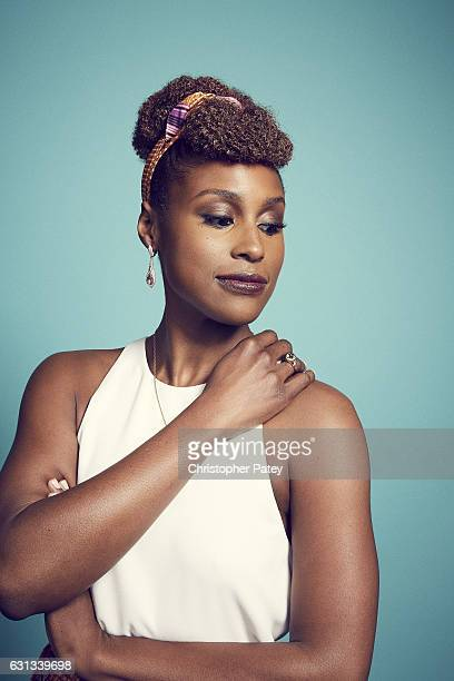 Actress Issa Rae poses for a portraits 2017 Film Independent filmmaker grant and Spirit Award nominees brunch at BOA Steakhouse on January 7, 2017 in...