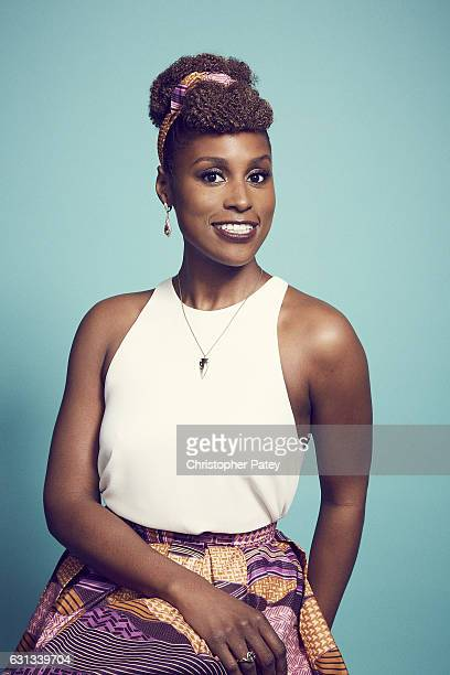 Actress Issa Rae poses for a portraits 2017 Film Independent filmmaker grant and Spirit Award nominees brunch at BOA Steakhouse on January 7 2017 in...