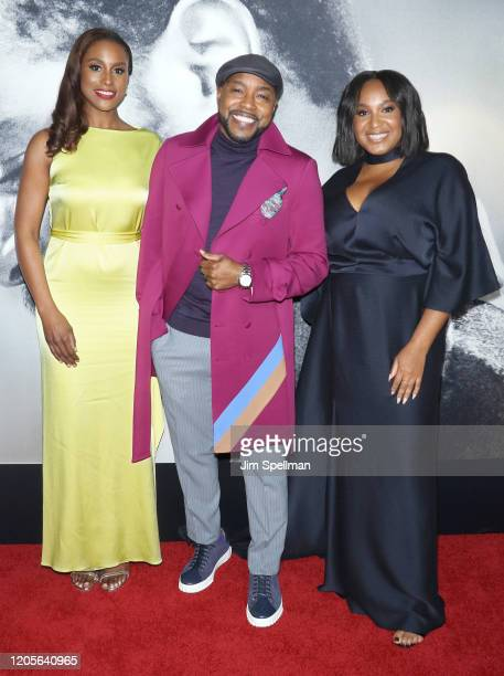 Actress Issa Rae producer Will Packer and director Stella Meghie attend the The Photograph world premiere at SVA Theater on February 11 2020 in New...