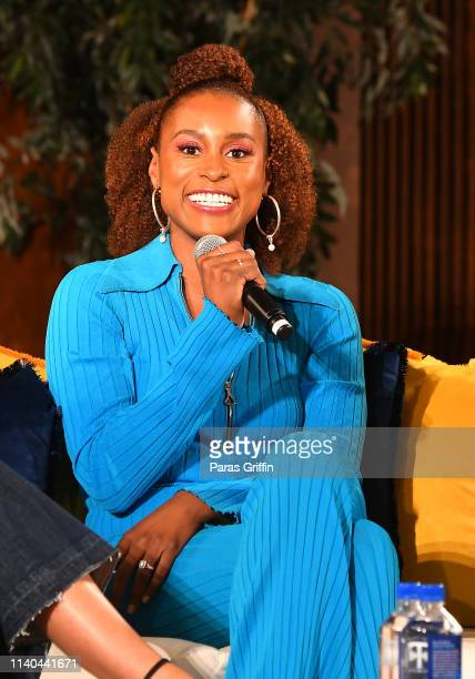 Actress Issa Rae speaks onstage during A Little Conversation at Spelman College on April 04 2019 in Atlanta Georgia