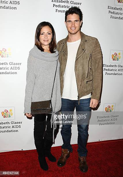 Actress Italia Ricci and actor Robbie Amell attend the Elizabeth Glaser Pediatric AIDS Foundation's 26th A Time For Heroes family festival at...