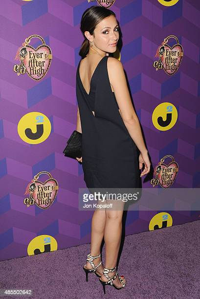Actress Italia Ricci arrives at Just Jared's Way To Wonderland Presented By Ever After High at Greystone Manor Supperclub on August 27 2015 in West...