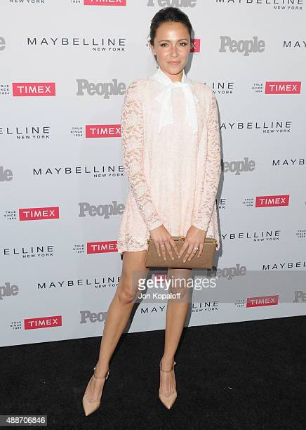 Actress Italia Ricci arrives at People's 'Ones To Watch' Event at Ysabel on September 16 2015 in West Hollywood California