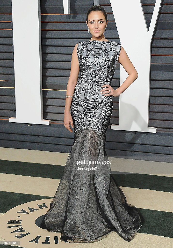 Actress Italia Ricci arrives at the 2015 Vanity Fair Oscar Party Hosted By Graydon Carter at Wallis Annenberg Center for the Performing Arts on February 22, 2015 in Beverly Hills, California.