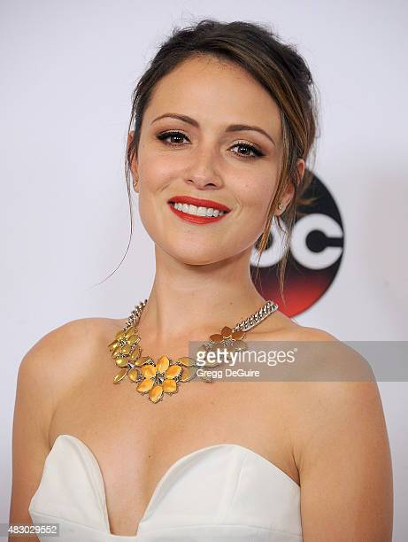 Actress Italia Ricci arrives at the Disney ABC Television Group's 2015 TCA Summer Press Tour on August 4 2015 in Beverly Hills California