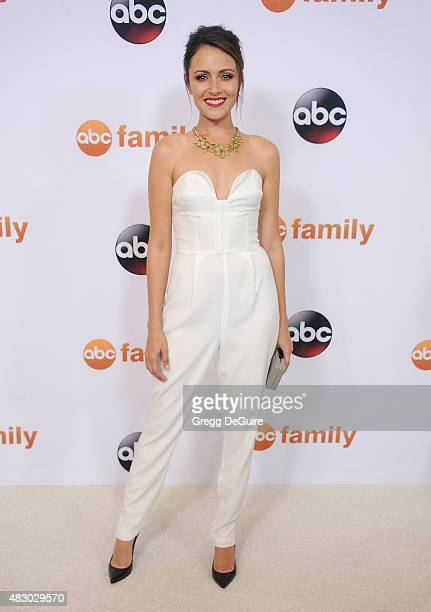 Actress Italia Ricci arrives at the Disney ABC Television Group's 2015 TCA Summer Press Tour on August 4, 2015 in Beverly Hills, California.