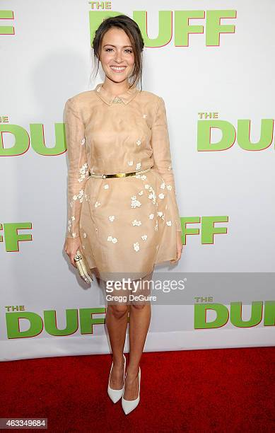 Actress Italia Ricci arrives at the Los Angeles screening of The Duff at TCL Chinese 6 Theatres on February 12 2015 in Hollywood California