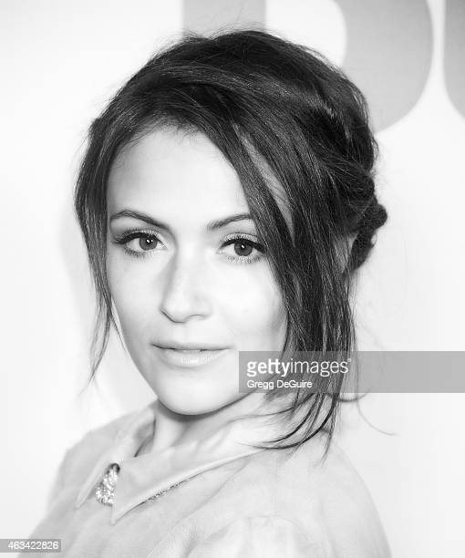 "Actress Italia Ricci arrives at the Los Angeles screening of ""The Duff"" at TCL Chinese 6 Theatres on February 12, 2015 in Hollywood, California."