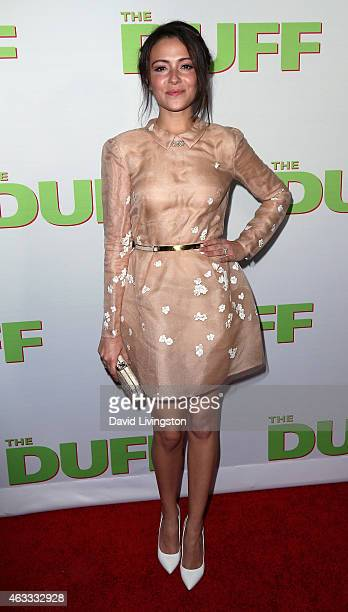 Actress Italia Ricci attends a fan screening of CBS Films' 'The Duff' at TCL Chinese 6 Theatres on February 12 2015 in Hollywood California