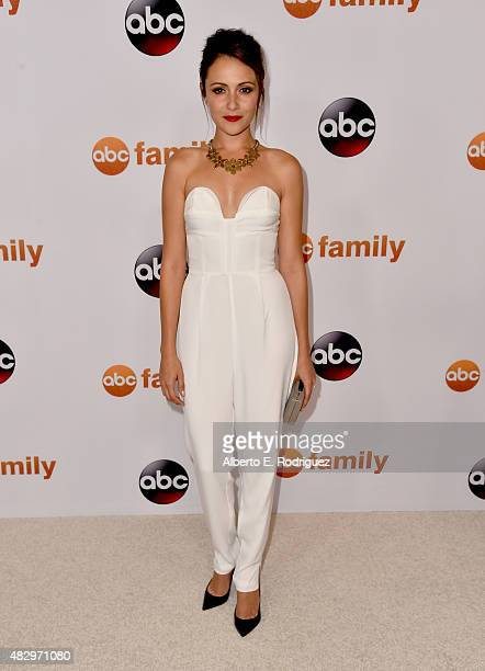Actress Italia Ricci attends Disney ABC Television Group's 2015 TCA Summer Press Tour at the Beverly Hilton Hotel on August 4 2015 in Beverly Hills...