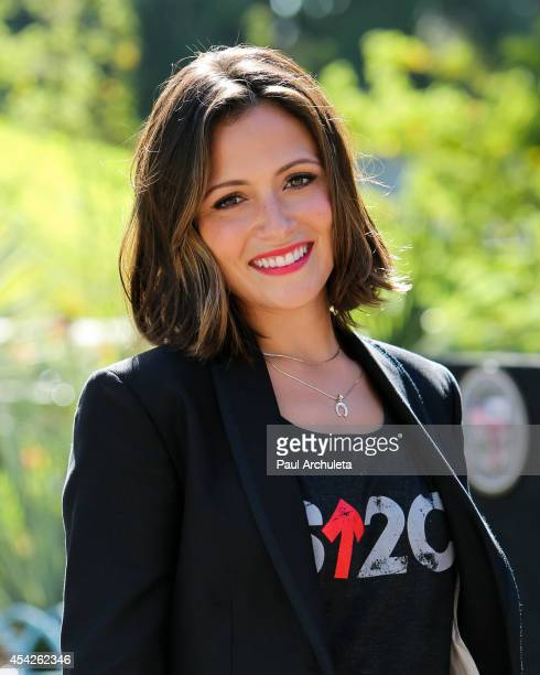 "Actress Italia Ricci attends the ""Stand Up To Cancer"" press conference at Los Angeles City Hall on August 27, 2014 in Los Angeles, California."