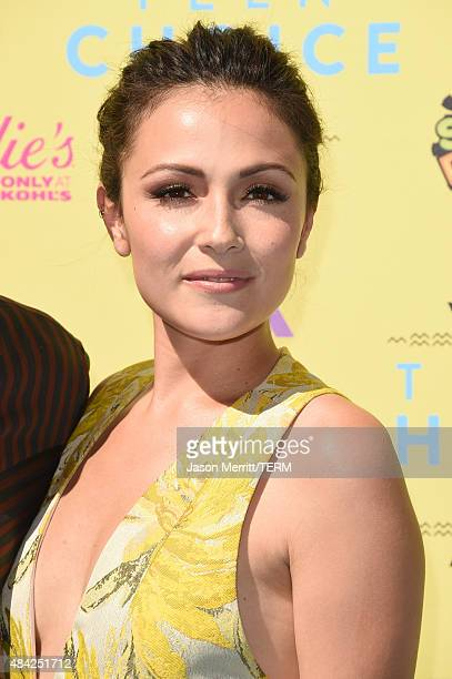 Actress Italia Ricci attends the Teen Choice Awards 2015 at the USC Galen Center on August 16 2015 in Los Angeles California