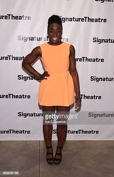 Actress Ito Aghayere attends 'The Liquid Plane' Opening Night Party at Signature Theatre Company's The Pershing Square Signature Center on March 8...