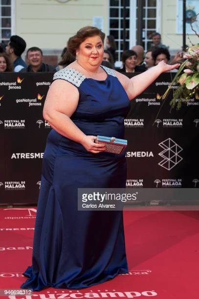 Actress Itziar Castro attends 'No Dormiras' premiere at the Cervantes Theater on April 15 2018 in Malaga Spain