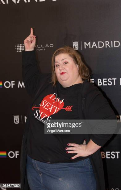 Actress Itziar Castro attends 'The Best Day Of My Life' Madrid premiere at Callao cinema on March 13 2018 in Madrid Spain