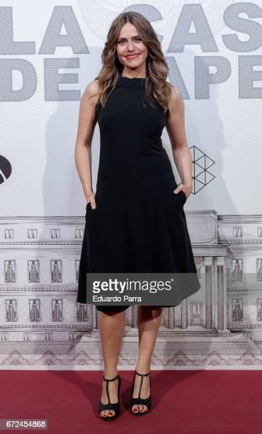 Actress Itziar Ituno attends the 'La casa de papel' photocall at Gran Via cinema on April 24 2017 in Madrid Spain