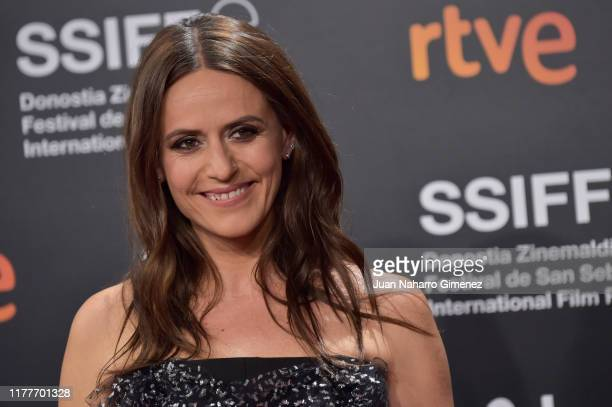 Actress Itziar Ituño attends the red carpet on the closure day of 67th San Sebastian International Film Festival on September 28 2019 in San...