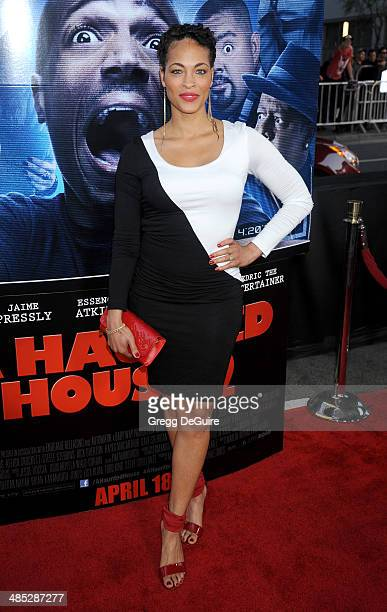 Actress Iva La'Shawn arrives at the Los Angeles premiere of A Haunted House 2 at Regal Cinemas LA Live on April 16 2014 in Los Angeles California