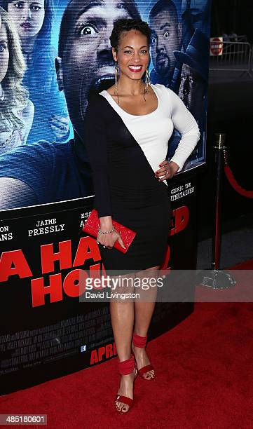 Actress Iva La'Shawn attends the premiere of Open Road Films' A Haunted House 2 at Regal Cinemas LA Live on April 16 2014 in Los Angeles California