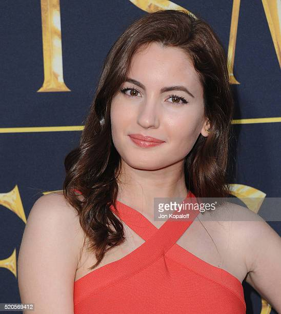 Actress Ivana Baquero arrives at the Los Angeles Premiere Of Universal Pictures' The Huntsman Winter's War on April 11 2016 in Westwood California