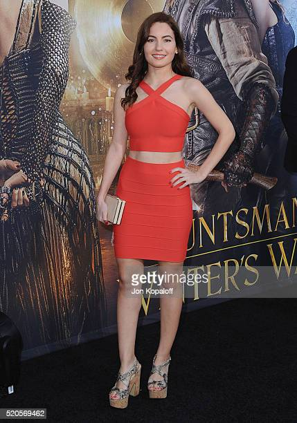 Actress Ivana Baquero arrives at the Los Angeles Premiere Of Universal Pictures' 'The Huntsman Winter's War' on April 11 2016 in Westwood California