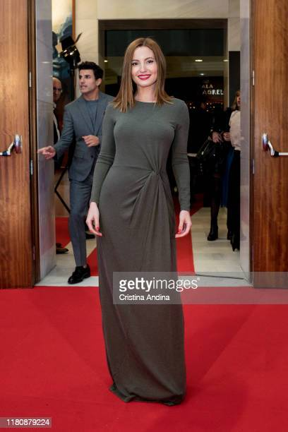 Actress Ivana Baquero attends Alta Mar second season preview by Netflix at Noia Festival at the hometown of its creator Ramon Campos on November 8...