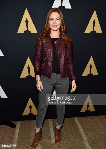 Actress Ivana Baquero attends The Academy Presents A Screening And Conversation For 'Pan's Labyrinth' at The Samuel Goldwyn Theater on October 30...