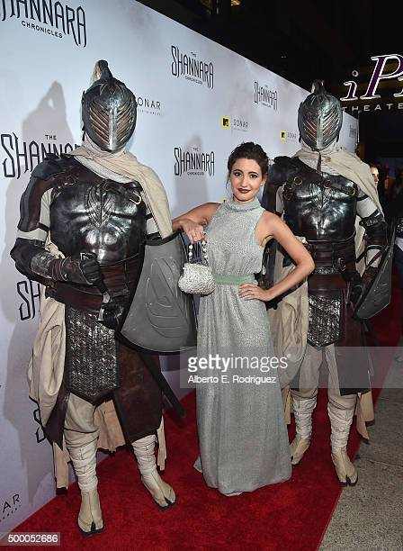 Actress Ivana Baquero attends the premiere of MTV and Sonar Entertainment's The Shannara Chronicles at iPic Theaters on December 4 2015 in Los...