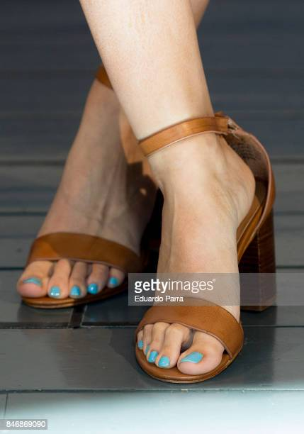Actress Ivana Baquero shoes detail attends the Tnt and TMC new season presentation at Matadero Madrid on September 14 2017 in Madrid Spain