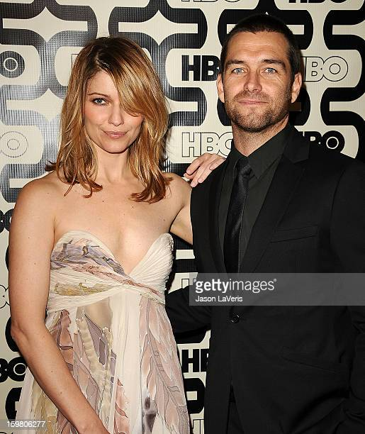 Actress Ivana Milicevic and actor Antony Starr attend the HBO after party at the 70th annual Golden Globe Awards at Circa 55 restaurant at the...