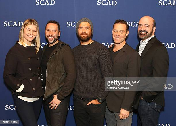 Actress Ivana Milicevic Writer and Executive Producer Adam Targum Actor Antony Starr Actor Matthew Rauch and Actor Matt Servitto attend the 'Banshee'...