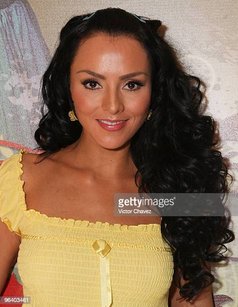 Actress Ivonne Montero attends the La Loba Soap Opera launch press conference and photo call at Restaurante El Lago on February 3 2010 in Mexico City...