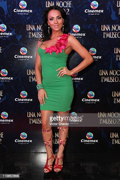 Actress Ivonne Montero attends the premiere of Night At The Museum Battle Of The Smithsonian at Cinemex Antara Polanco on June 9 2009 in Mexico City...
