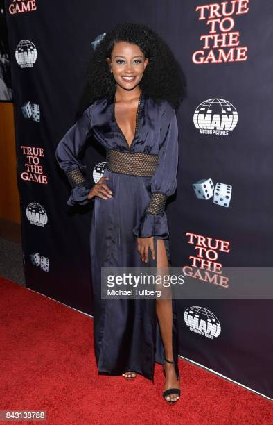 Actress Iyana Halley attends the premiere of Imani Motion Pictures' 'True To The Game' at Directors Guild Of America on September 5 2017 in Los...