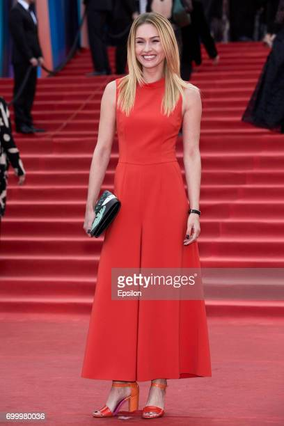 Actress Iyeva Andreevayte attends opening of the 39th Moscow International Film Festival outside the Karo 11 Oktyabr Cinema on June 22 2017 in Moscow...