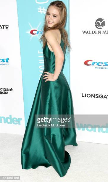Actress Izabela Vidovic attends the Premiere of Lionsgate's Wonder at the Regency Village Theatre on November 14 2017 in Westwood California