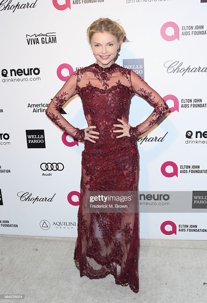 Actress Izabella Miko attends the 23rd Annual Elton John AIDS Foundation's Oscar Viewing Party on February 22, 2015 in West Hollywood, California.