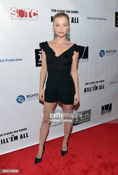 Actress Izabella Miko attends the premiere of Destination Films' Kill 'em All at Harmony Gold on June 6 2017 in Los Angeles California