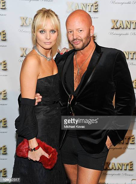 Actress Izabella Scorupco and stylist Jonas Hallberg attend the Grammy Xante Party with Jonas Hallberg and Ina Soltani at Private Residence on...