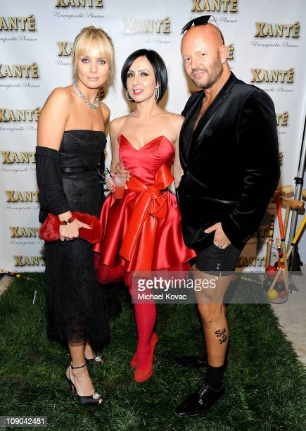 Actress Izabella Scorupco, Ina Soltani, and Jonas Hallberg attend the Grammy Xante Party with Jonas Hallberg and Ina Soltani at Private Residence on...
