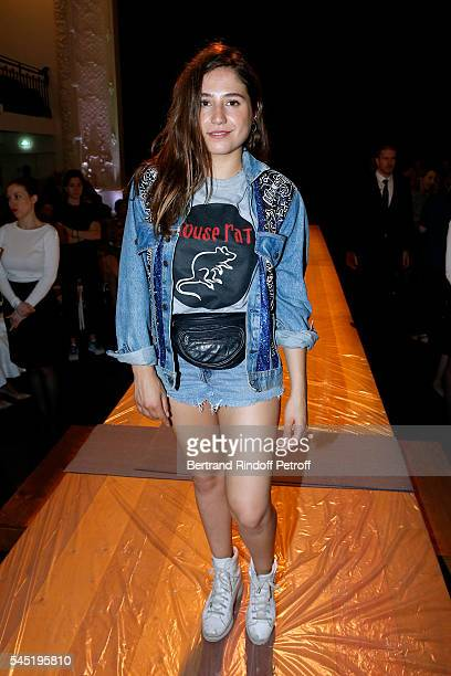 Actress Izia Higelin attends the Jean Paul Gaultier Haute Couture Fall/Winter 20162017 show as part of Paris Fashion Week on July 6 2016 in Paris...