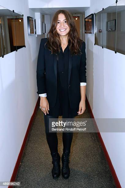 Actress Izia Higelin attends the 'Vivement Dimanche' French TV Show at Pavillon Gabriel on September 22 2015 in Paris France