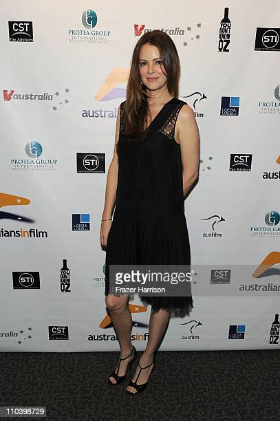"""Actress Jacinda Barrett attends Australians In Film Screening of Cascade Films' """"Matching Jack"""" at the Directors Guild of America on March 17, 2011..."""