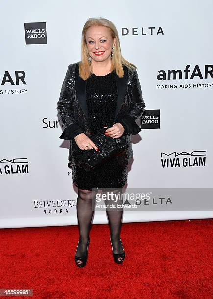 Actress Jacki Weaver arrives at amfAR The Foundation for AIDS 4th Annual Inspiration Gala at Milk Studios on December 12 2013 in Hollywood California