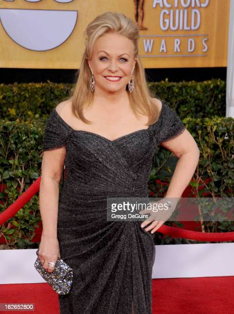 Actress Jacki Weaver arrives at the 19th Annual Screen Actors Guild Awards at The Shrine Auditorium on January 27 2013 in Los Angeles California