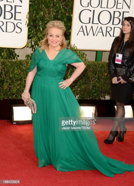 Actress Jacki Weaver arrives at the 70th Annual Golden Globe Awards held at The Beverly Hilton Hotel on January 13 2013 in Beverly Hills California