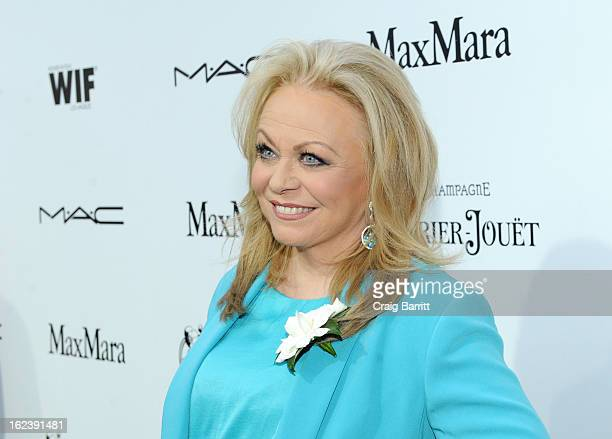 Actress Jacki Weaver attends the 6th Annual Women In Film PreOscar Party hosted by Perrier Jouet MAC Cosmetics and MaxMara at Fig Olive on February...