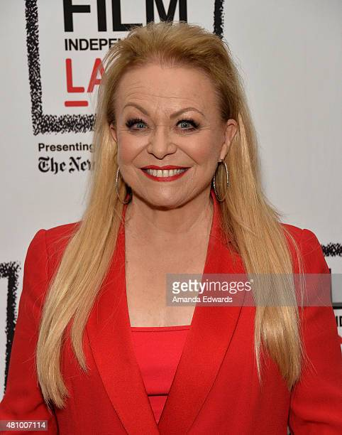 """Actress Jacki Weaver attends the Film Independent at LACMA presentation of """"Blunt Talk"""" at the Bing Theatre At LACMA on July 16, 2015 in Los Angeles,..."""