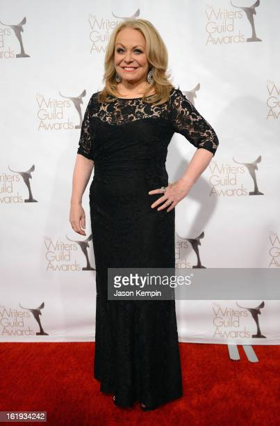 Actress Jacki Weaver poses in the press room during the 2013 WGAw Writers Guild Awards at JW Marriott Los Angeles at LA LIVE on February 17 2013 in...