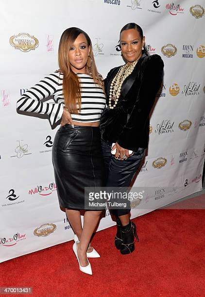 Actress Jackie Christie and daughter Chantelle Christie attend the season premiere party of the reality show Basketball Wives LA at Allure Studios on...